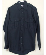 Mens NWOT Sentinel Navy Blue Long Sleeve Work Shirt Size Small - $8.95