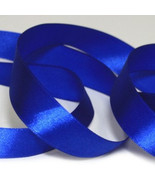 "5 Yards Blue Single Faced Satin Ribbon7/8""22mm/wedding supplies/Bouquet ... - $2.00"