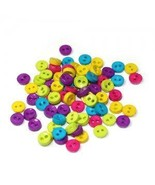 Mini Rainbow Plastic Buttons 6mm/Two Holes Buttons/Sewing Supplies/Kids Projects - £1.25 GBP