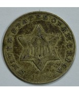 1852 3 cent circulated silver coin XF details - $70.00