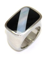 SSR2799 - Stunning Black Onyx Abalone Stainless... - $27.99