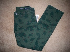 MEN'S GUYS BULLHEAD DENIM CO. GRAVELS SLIM GREEN CAMOUFLAGE PANTS JEANS ... - $42.99