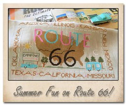 Route 66 cross stitch chart Little House Needleworks - $7.20