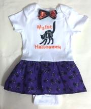 Infant Embroidered Bodysuit Skirt 1st Halloween 6-9 months + barrette - $21.95
