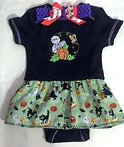 Infant Embroidered Bodysuit Skirt Halloween 6-9 months + Headband - $21.95
