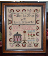 Bless This House With Love cross stitch chart Abby Rose Designs - $9.90