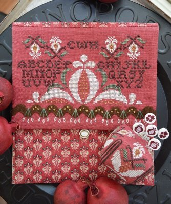 Pomegranate Pocke & Pin cross stitch chart Hands On Design - $9.00