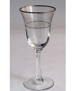 Lenox etched Fair Lady wine glass Platinum Crystal  Made in USA Mt Plea... - $17.60