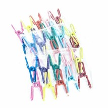 """Yansanido Pack of 30 Assorted Colors Utility Clips PVC-Coated 2"""" Steel W... - $10.70"""