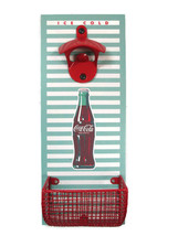 Coca-Cola Wall Mount Bottle Opener and Cap Catcher Green Red   - BRAND NEW - $21.29