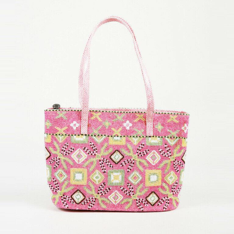 43158907e5ad Fendi Pink Beaded Lizard Shoulder Bag and 28 similar items. S l1600