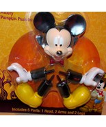 Disney Halloween Mickey Mouse Pumpkin Push Ins Dracula Mickey Vampire NEW - $9.99