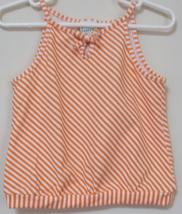 Toddler Girls Circo Orange White Stripe Sleeveless Top Size 4T - $3.95