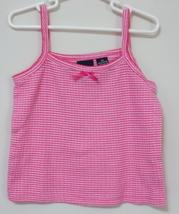 Girls Toddler Sonoma Pink White Sleeveless Top Size 3T - $3.95