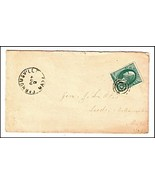 c1875 Farnumsville MA Discontinued/Defunct (DPO) Post Office Postal Cover - €8,43 EUR