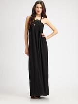 Leifsdottir Black Snake-trim Maxi Dress L - $90.00