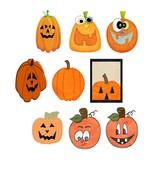 Mix Pumpkins3-Digital Download-ClipArt-Art Clip... - $3.00