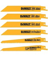 DEWALT DW4856 Metal Wood Cutting Reciprocating Saw Blade Set Woodcutting... - $25.98