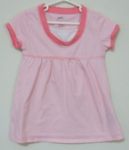 Girls Bailey Point Pink White Stripe Short Sleeve Top XS - $3.95
