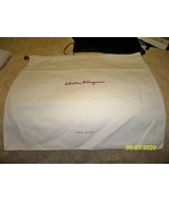 SALVATORE FERRAGAMO New Large  Dust Bag /Cover 17 x 16 Ivory / Red logo - $13.85