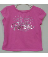 Girls Barbie Avenue Pink Short Sleeve Top Size M  - $4.00