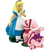 Disney Alice In Wonderland Alice Cheshire Cat Ceramic Salt & Pepper Shak... - $33.85