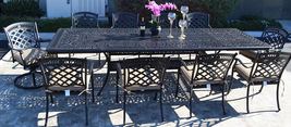 Elisabeth 11 Piece Cast Aluminum Patio Dining Set With St Austine Chairs image 2