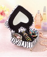 Animal Print Jewelry Box Heart Shaped Cushy Couch Rings Bracelet Necklac... - $16.99