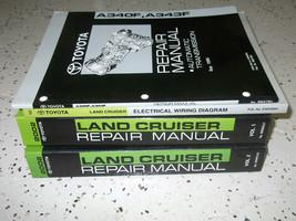 2001 Toyota Land Cruiser Service Shop Repair Manual Set Oem W Ewd + Transaxle - $346.45