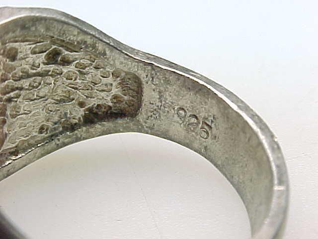 Vintage BLACK HILLS GOLD Sterling Silver EAGLE RING - Size 10 3/4 image 5