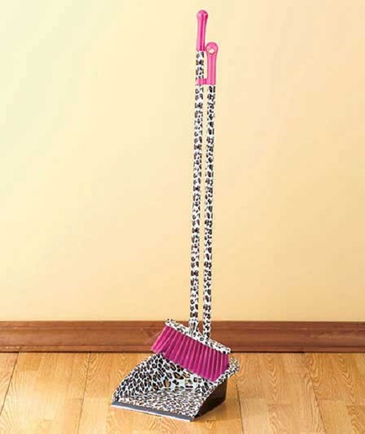 Leopard Print Broom Amp Dustpan Set Designer Broom Amp Dust