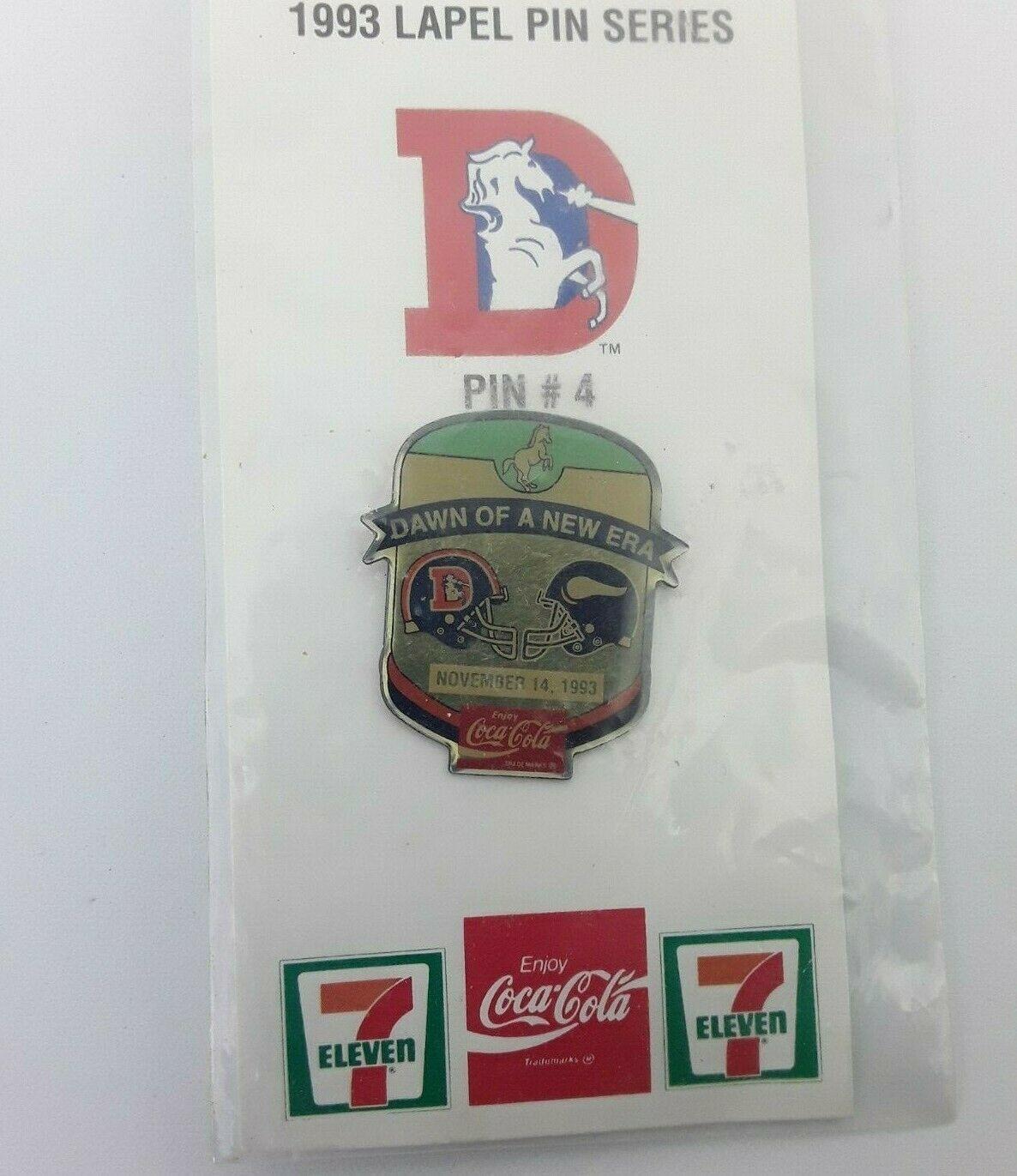 Classic 1993 NFL Football Lapel Hat Pin - Denver Broncos vs Minnesota Vikings image 4