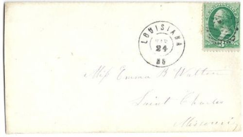 c1870 Louisiana MO Vintage Postal Cover