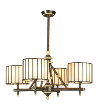 "Meyda Decorative 30""W Revolution 4Lt Chandelier-Beige Mahogany Bronze 12... - $622.80"