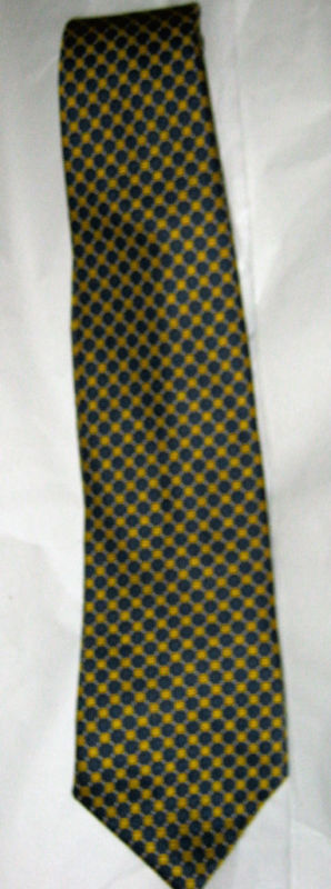 "Primary image for Brooks Brothers Basics navy yellow silk 4"" blade tie"