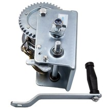 2500lb Dual Gear For Hand Winch Crank Steel Gear Cable Winch Boat ATV Tr... - $56.21