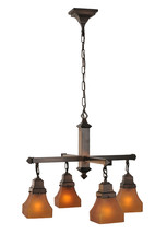 "Meyda Home Decorative Light 26""W Frosted Amber 4 Lt Chandelier 1235-50363 - $642.60"