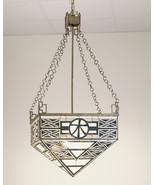 "Meyda Home Decorative Ceiling Light 21""Sq Wood Inverted Pendant 1235-50551 - $963.90"
