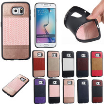 Shockproof Weave Leather Soft TPU Case Phone Cover for Samsung Galaxy S8 S8 Plus - $6.45