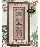 Be Merry & Bright Sampler christmas cross stitc... - $15.30