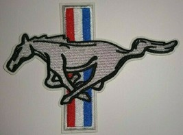 """Ford Mustang Emblem~Embroidered Patch~Car Truck Auto~5"""" x 3 5/8""""~Iron or... - $5.23"""