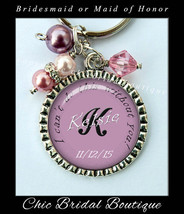 Bridesmaid Key Chain Cant do it without you Personalized Bridal Jewelry ... - $18.00