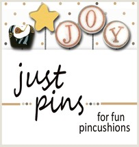 J is for Joy JP141 set 5 for pincushions JABC Just Another Button Co - $13.95