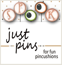 S is for Spook JP170 set 5 for pincushions JABC Just Another Button Co - $13.95
