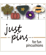 Pumpkin Harvest JP172 set 5 for pincushions JABC Just Another Button Co - $13.95