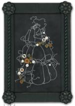 Chalkwork Pumpkin Stitchery 9951button pack + stitchery chart JABC - $28.35