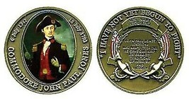 "COMMODORE JOHN PAUL JONES I HAVE NOT YET BEGUN TO FIGHT 1.75"" CHALLENGE ... - $18.04"