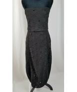 MISHA Collection women 10 black Margot strapless midi dress lined cockta... - $148.50