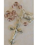 Mini light purple glass Rosary - $16.00