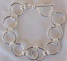 Open  rounds  silver bracelet - $55.00